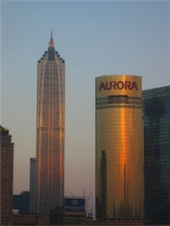 Jin Mao Tower and Aurora Building